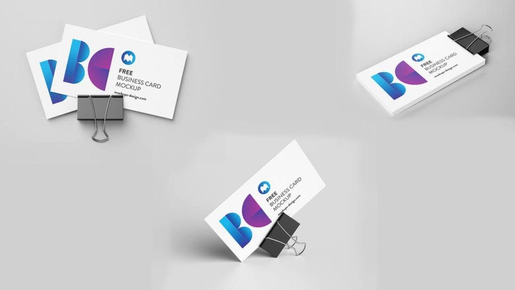 mockups gratis em psd cartão de visita
