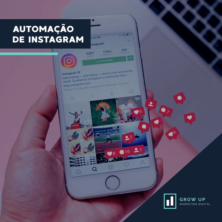 grow up automação para o instagram