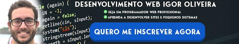 desenvolvimento web igor oliveira