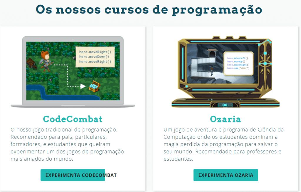 programação e desenvolvimento no site code combat