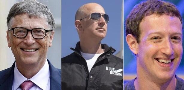 bilionários da tecnologia em 201
