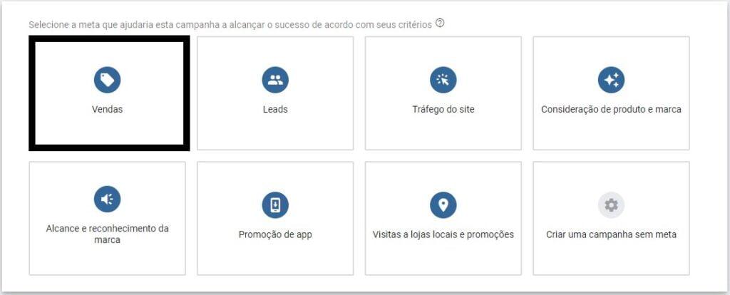 meta de vendas na rede de display do google